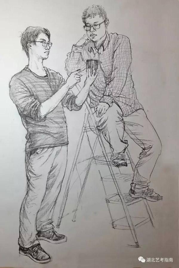 素描示范作品由三峡艺术高中供稿.jpg